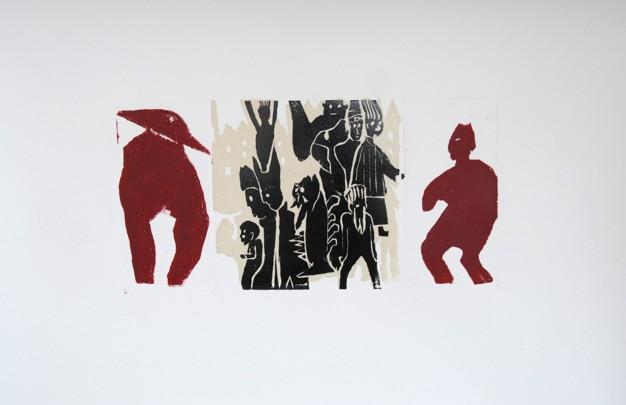 Christine Dobler: Holzschnitt Fabelwesen